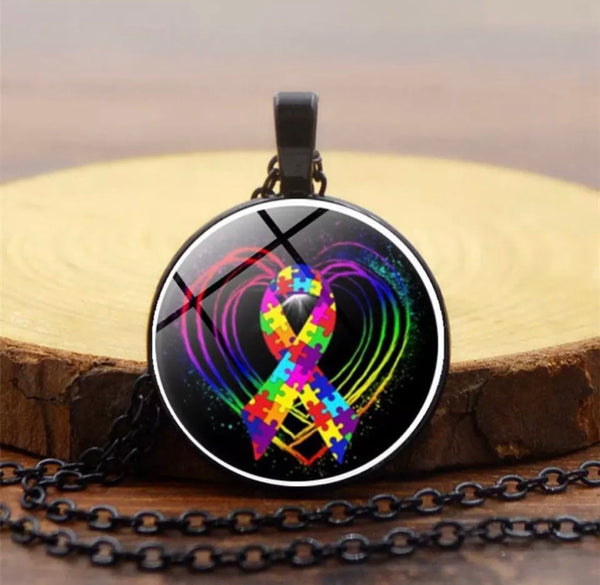 Autism awareness necklace-All-Times-Gifts