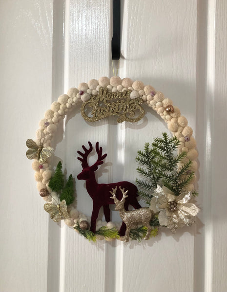 Raindeers wreath-All-Times-Gifts