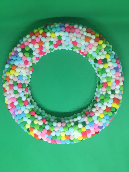 Pom-poms Colorful Wreath-All-Times-Gifts