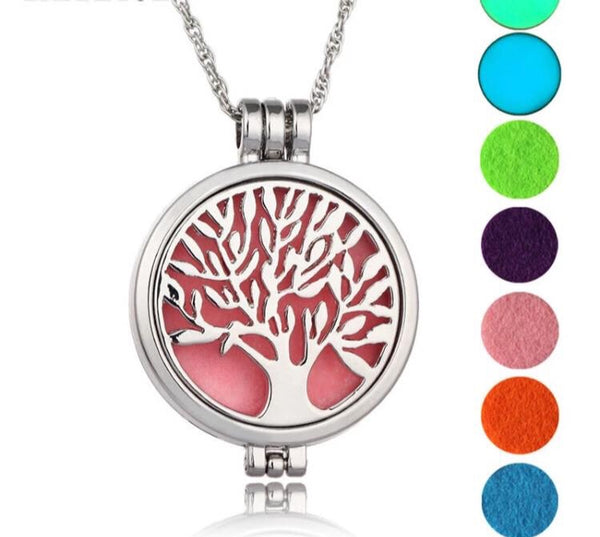 Tree of Life Vintage Diffuser Locket Necklace-Jewellery-All-Times-Gifts