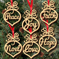 Natural Wooden Hanging Christmas Decoration-All-Times-Gifts