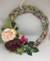 Handmade Braided Floral Fabric Wreath-All-Times-Gifts