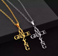 Amazing Grace cross necklace-All-Times-Gifts