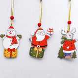 3pcs/Set wooden colourful Christmas ornaments-All-Times-Gifts