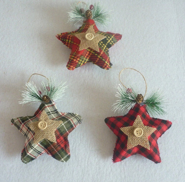 3pcs/Set Woven Fabric Christmas Stars-Christmas Gifts-All-Times-Gifts
