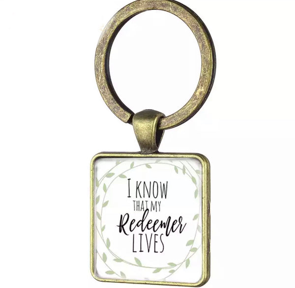 My redeemer lives keychain-All-Times-Gifts