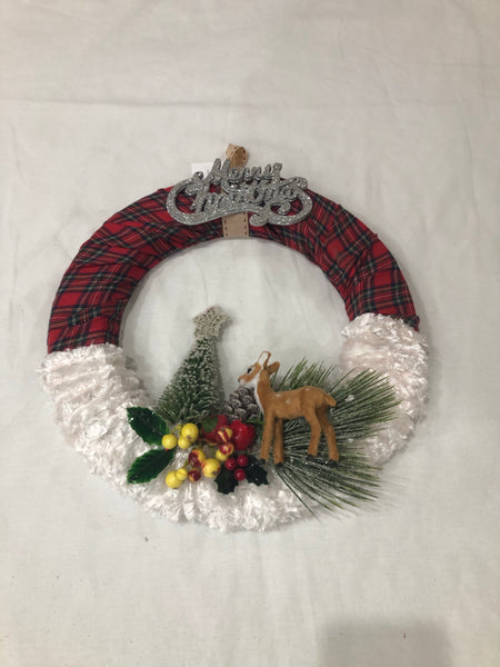 Christmas Wreath with Snow Effect-Christmas Gifts-All-Times-Gifts