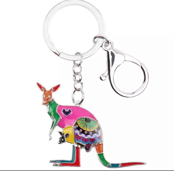 Multi colours Australian animals keychain-All-Times-Gifts