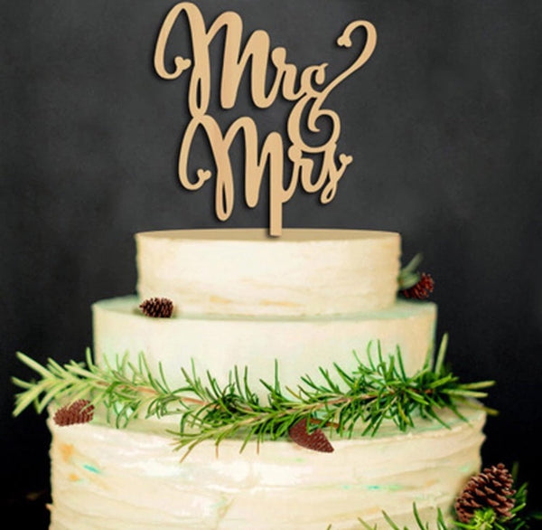 Mr&Mrs Cake Topper-All-Times-Gifts