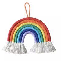 Hand-Woven Rainbow Wall Hanging Art-All-Times-Gifts