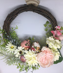 Floral Drift Wood Wreath with Birds-Personalised Wreath-All-Times-Gifts