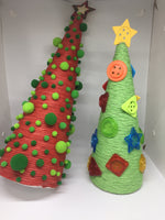 2pcs Set Christmas Tree Pom-Poms and Buttons-All-Times-Gifts