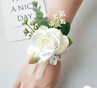 Floral rose Corsage bracelet-All-Times-Gifts