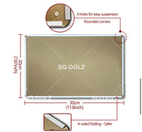 2pcs set Rectangle golden metal plaque-All-Times-Gifts