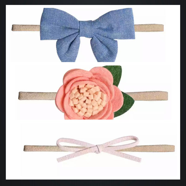 3pcs Set Baby Girl Headbands-All-Times-Gifts