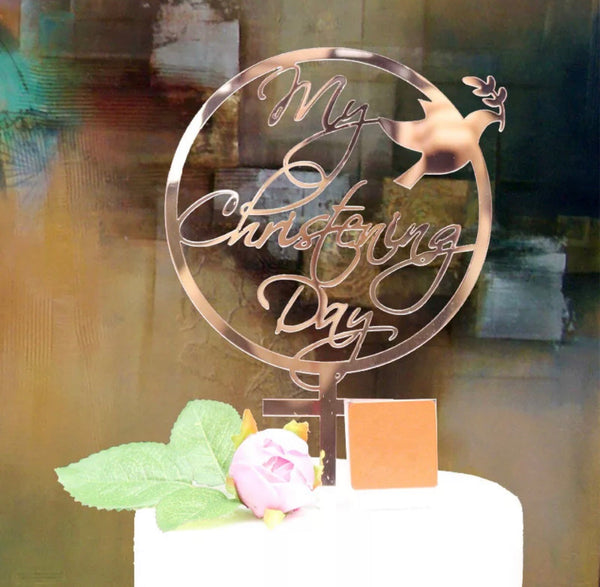 Christening Cake Topper-Cake Topper-All-Times-Gifts