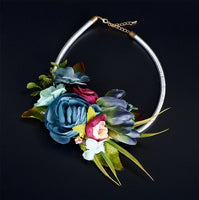 Handmade Choker Flower Necklace Collar-Jewellery-All-Times-Gifts