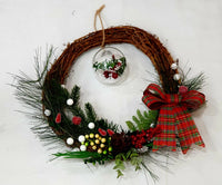 Natural grapevine Christmas wreath-All-Times-Gifts