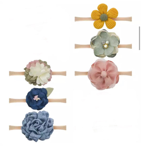6pcs Set Floral Headbands-All-Times-Gifts