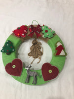 Christmas Wreath with Burlap Tree-Christmas Gifts-All-Times-Gifts