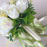 Bridal Bouquet White Roses-All-Times-Gifts