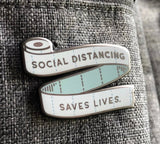 Social Distancing Saves Lives Pins Badge-All-Times-Gifts