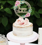 Floral Birthday Cake Topper-Cake Topper-All-Times-Gifts