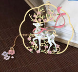 2pcs/set Deer Design Metal Bookmarks-Bookmarks-All-Times-Gifts