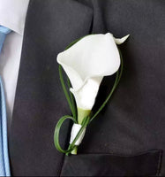 White Calla Lily Buttonhole Boutonniere-All-Times-Gifts
