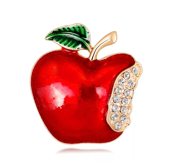 Super Teacher Apple Brooches Pins-Teacher's Gifts-All-Times-Gifts