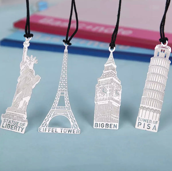 4pcs/Set Landmark Bookmarks-All-Times-Gifts