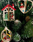 3pcs/Set 3D Wooden Colourful Christmas Decorations-All-Times-Gifts