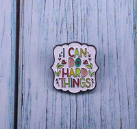 I Can Do Hard Things Pin Brooch-All-Times-Gifts