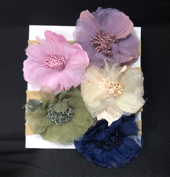 5pcs set chiffon headbands-All-Times-Gifts