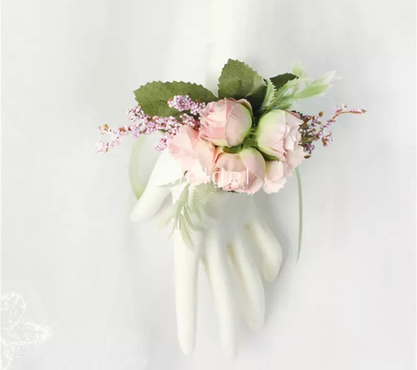 Triple Flowers Pink Corsage-Event-All-Times-Gifts