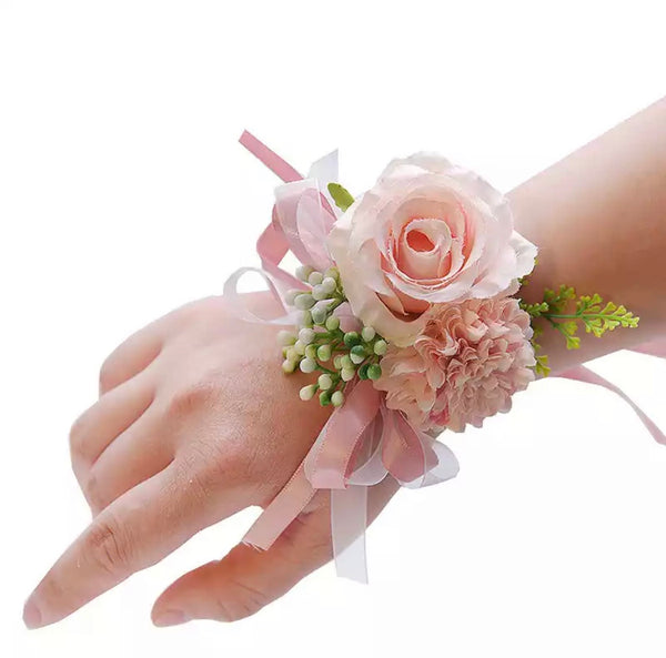 Ribbon Floral bracelet corsage-All-Times-Gifts