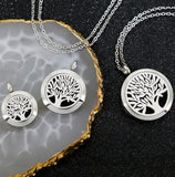 Tree of Life necklace diffuser locket with pads for Essential Oils Or Perfume-Jewellery-All-Times-Gifts