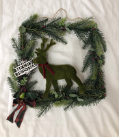 Christmas square wreath-All-Times-Gifts