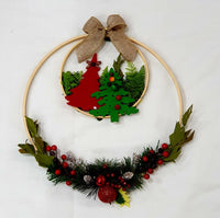 Double wooden Christmas hoop-All-Times-Gifts