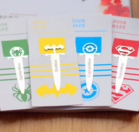 4pcs/Set Super Heroes Metal Bookmarks-All-Times-Gifts