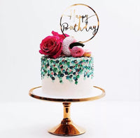 Round Birthday Cake Topper-Cake Topper-All-Times-Gifts