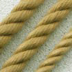 3 Strand Polyester Matt Buff (natural hemp colour) 14mm - per metre.