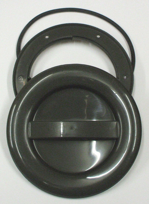 A337R - 100MM HATCH AND COVER - GREY with o-ring