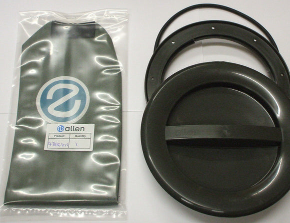A537R-BAG - 145MM HATCH COVER - GREY with o-ring and bag