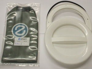 A537WR-BAG - 145MM HATCH COVER - WHITE with o-ring and bag