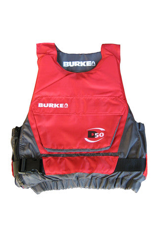 Burke D50 Buoyancy Vest - Red/Grey