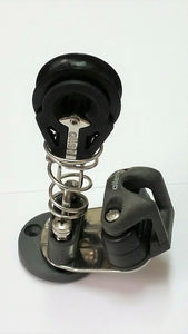 FS - A4766/A2040 - Impulse traveller swivel cleat with mainsheet block mounted on top