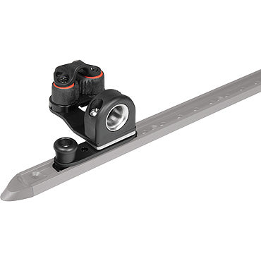 Ronstan RC91942 Series 19 C-Track - Slide with swivelling fairlead and cleat and plunger stop