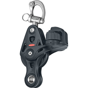 RF64523 - Single block with fiddle, cleat and snap shackle 60mm