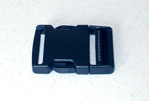 Webbing Buckle Black Plastic 50mm